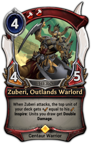 Zuberi, Outlands Warlord card