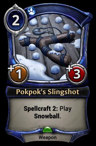 Pokpok's Slingshot card