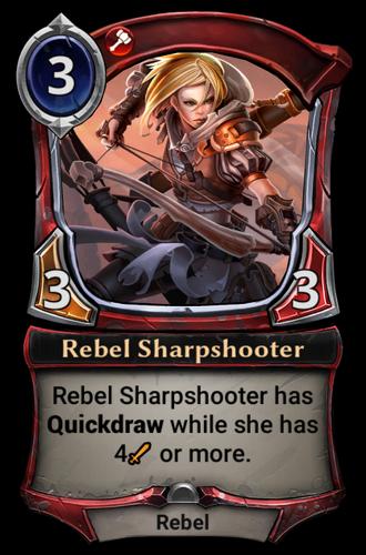 Rebel Sharpshooter card