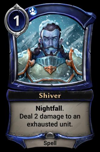 Shiver card