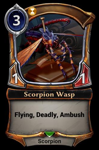 Alternate-art Scorpion Wasp card