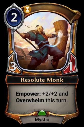 Resolute Monk card