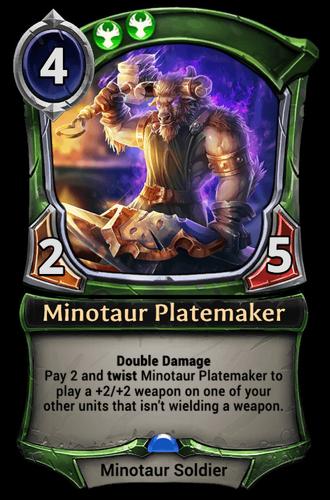 Minotaur Platemaker card