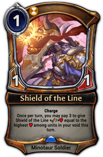 Shield of the Line card