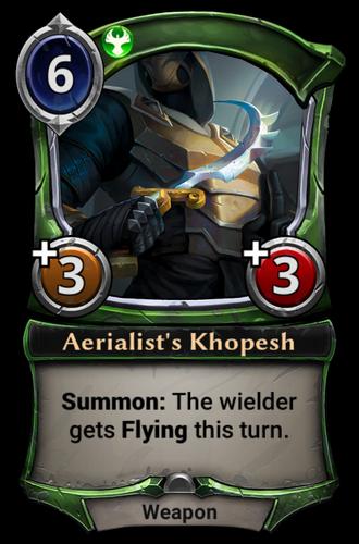 Aerialist's Khopesh card