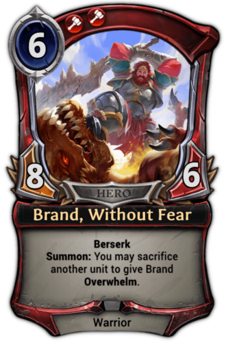Brand, Without Fear card