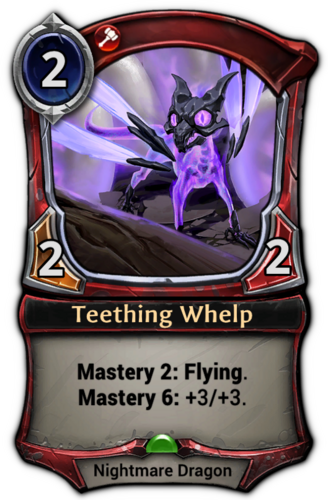 Teething Whelp card