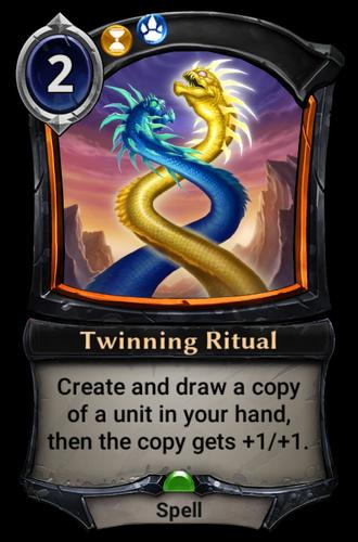 Twinning Ritual card