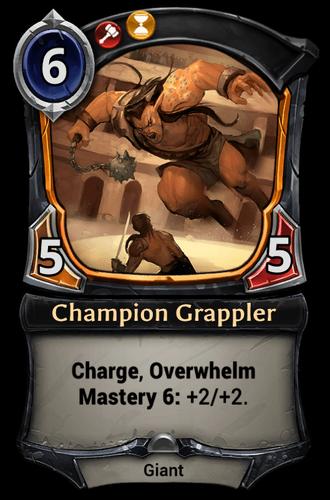 Champion Grappler card