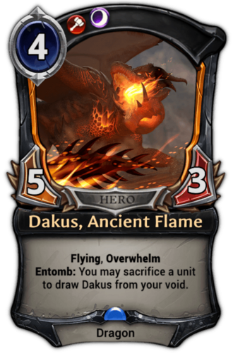 Dakus, Ancient Flame card