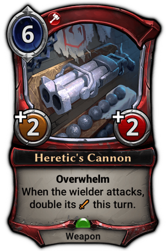 Heretic's Cannon card