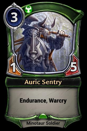 Auric Sentry card