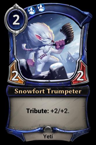 Snowfort Trumpeter card