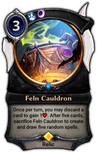 Feln Cauldron card