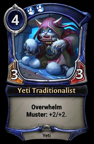 Yeti Traditionalist card