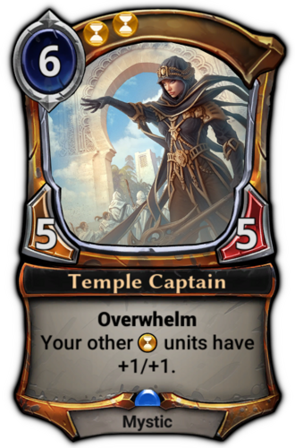 Temple Captain card