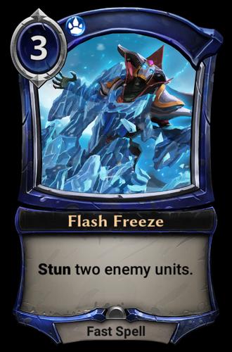 Flash Freeze card