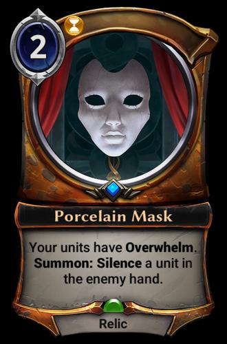 Porcelain Mask card