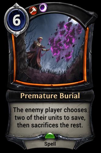 Premature Burial card