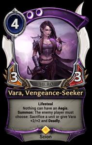 Vara, Vengeance-Seeker