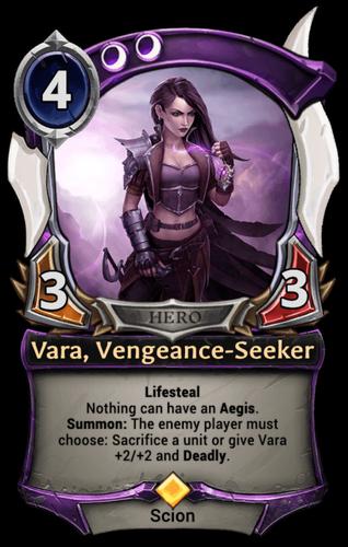 Vara, Vengeance-Seeker card