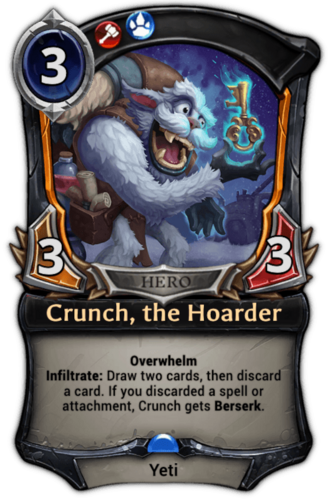 Crunch, the Hoarder card