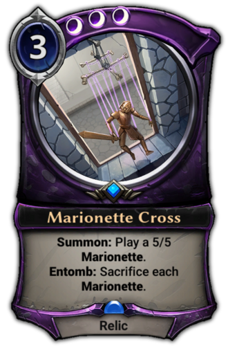 Marionette Cross card