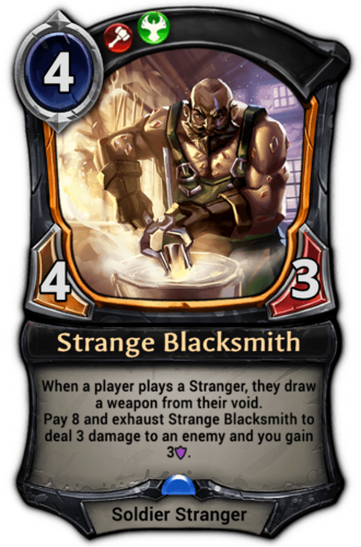 Strange Blacksmith card