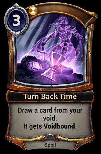 Turn Back Time card