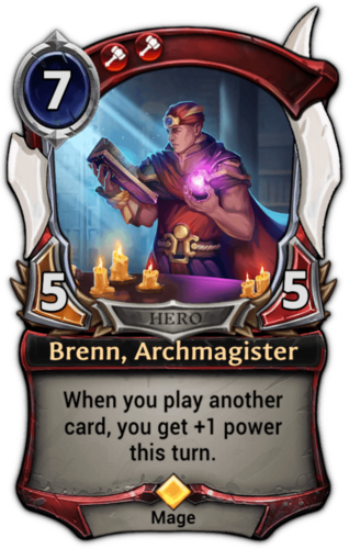 Brenn, Archmagister card