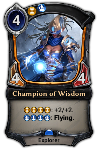 Champion of Wisdom card