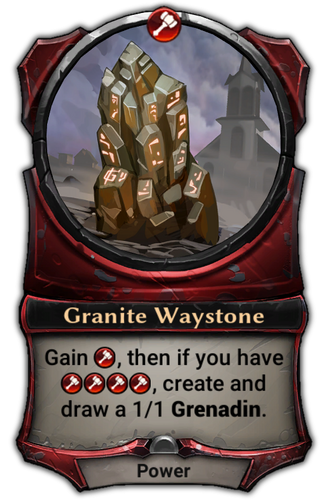 Granite Waystone card