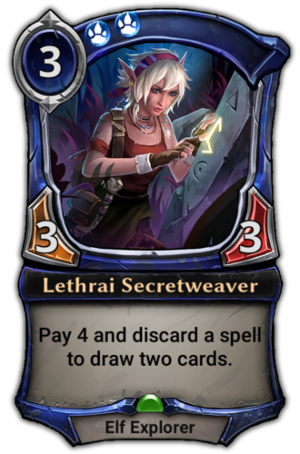 Lethrai Secretweaver card