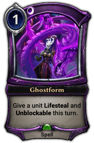 Ghostform card