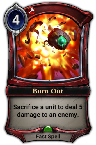 Burn Out card