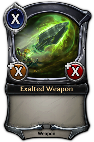 Exalted Weapon card