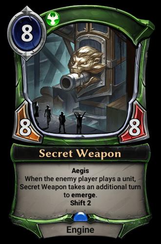 Secret Weapon card
