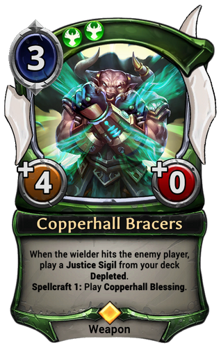 Copperhall Bracers card