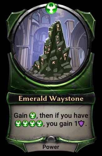 Emerald Waystone card
