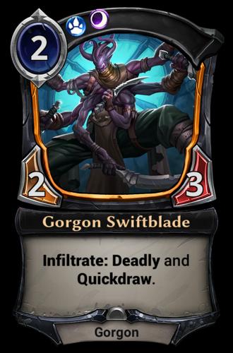 Gorgon Swiftblade card