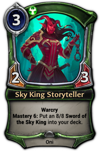 Sky King Storyteller card