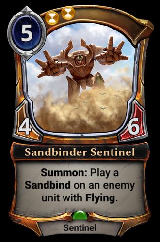 Sandbinder Sentinel card
