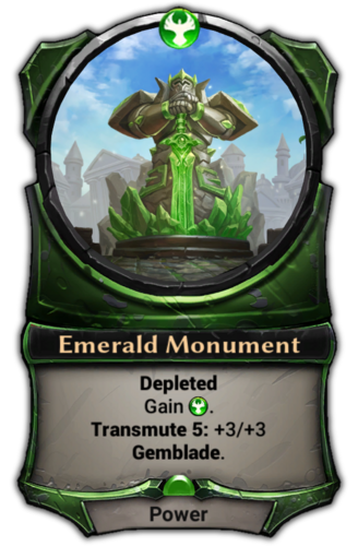 Emerald Monument card