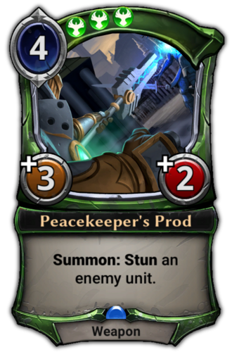 Peacekeeper's Prod card