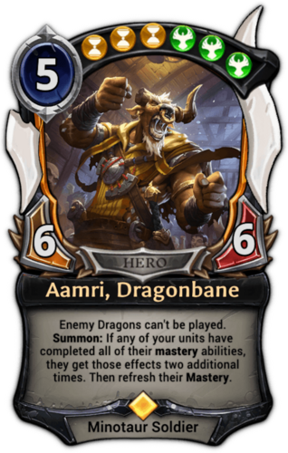 Aamri, Dragonbane card
