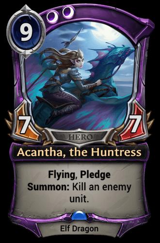Acantha, the Huntress card