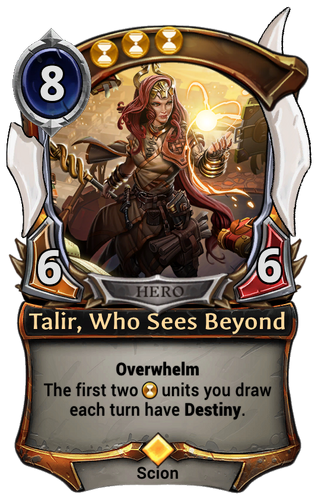 Talir, Who Sees Beyond card
