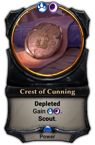 Crest of Cunning card