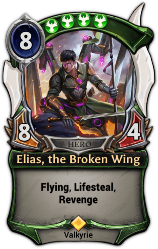 Elias, the Broken Wing card