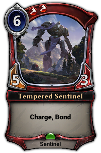 Tempered Sentinel card